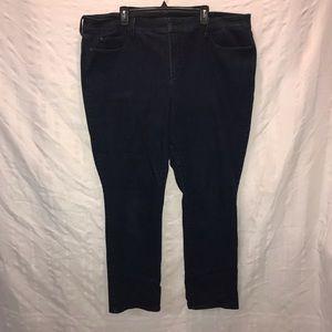 NYDJ Marilyn straight leg blue jeans size 24W 24 W